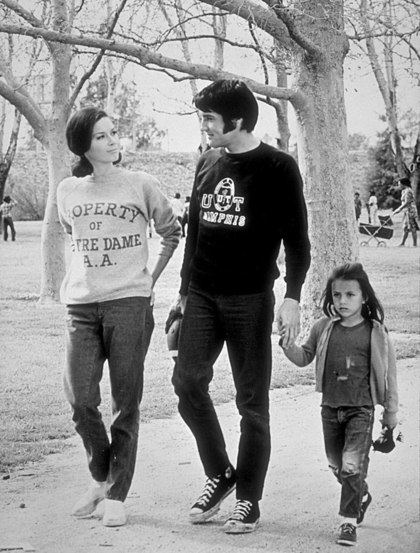 "Elvis Presley, Mary Tyler Moore and Lorena Kirk on the set of ""Change of Habit"" 1969 Universal"