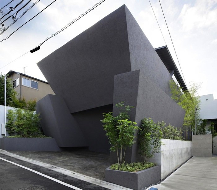 An Angular Concrete Home By Artechnic Architects Ignant Com