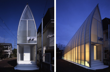 A Futuristic Translucent House By Atelier Tekuto