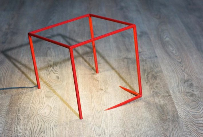 An Optical Illusion Lamp By Cedric Dequidt