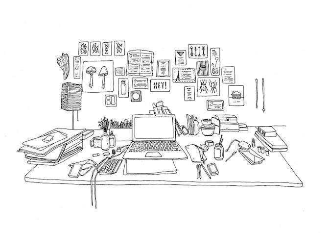 Desk bw