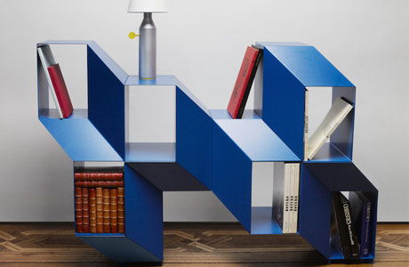 A Shelf That Looks Like An Optical Illusion By Charles Kalpakian