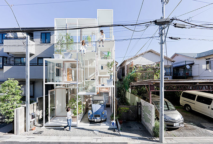 A Minimal Multi-Level House By Sou Fujimoto