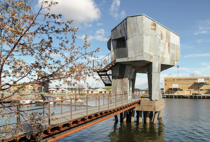 An Elevated Public Sauna In Gothenburg By Raumlabor