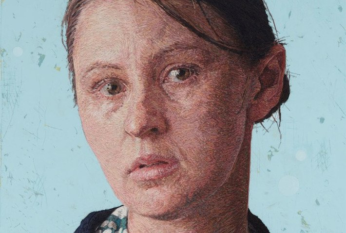 Hyperreal Hand-Embroidered Portraits By Cayce Zavaglia