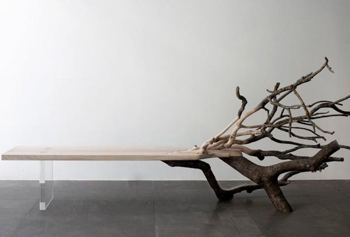 A Fallen Tree Bench By Benjamin Graindorge