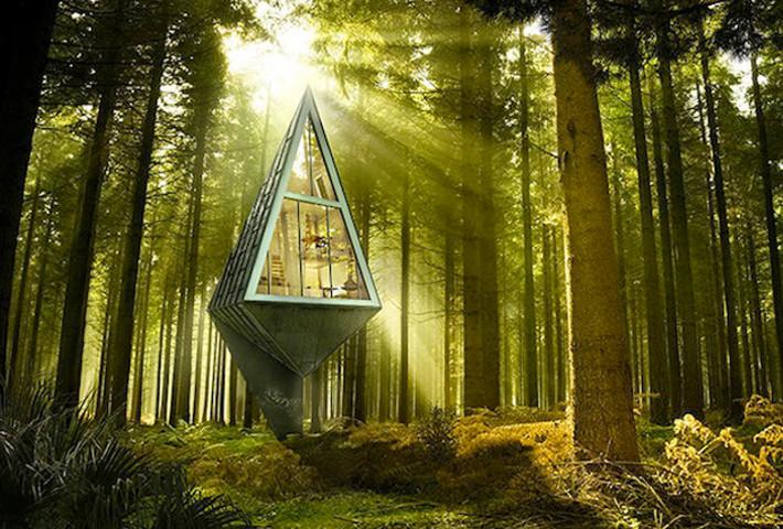 A Tree-Inspired Single Pole Home By Konrad Wójcik