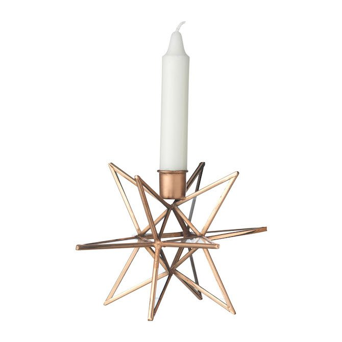 Brass Candle Holder 'Star'