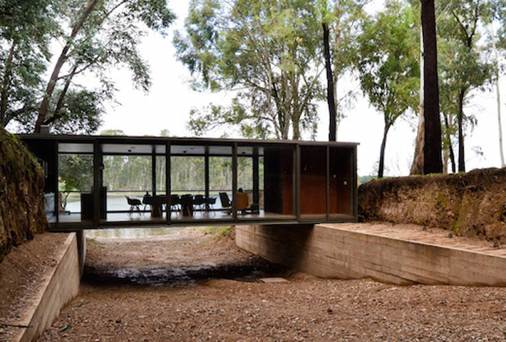 A Bridge-Like Pavilion In The Woods By Alarcia Ferrer Arquitectos