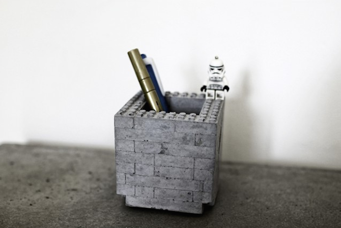 Brick By Brick Pen Holder