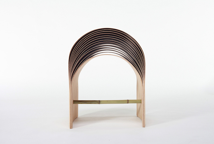 An Arc-Shaped Stool Designed By Min Chen