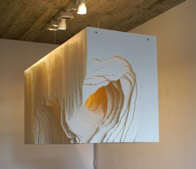 Paper Tunnel Sculptures By Angela Glajcar Ignant Com