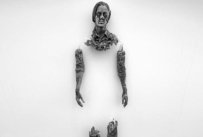 A Broken Figure Made Of Volcanic Ash By Daniel Arsham