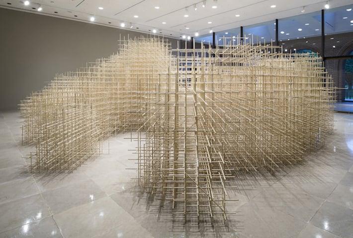 A Wood Installation Made Of 10,000 Sticks By Ben Butler