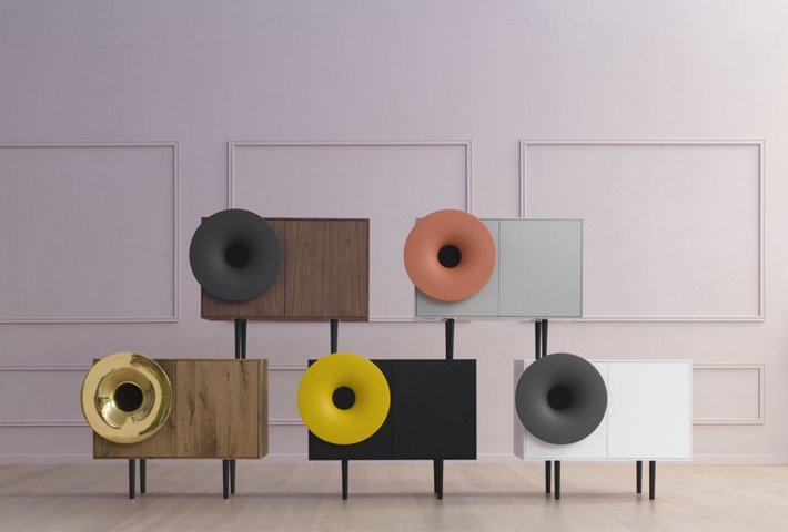 Modern Music Cabinets By Paolo Cappello