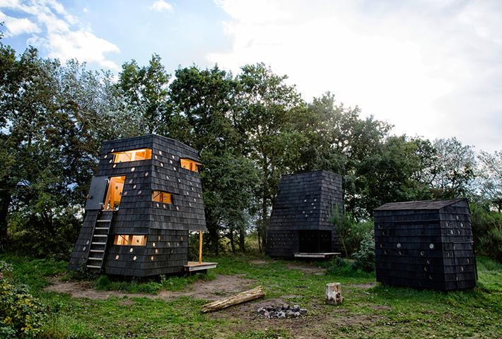 Asymmetric Shelters On The Danish Coast By Lumo Arkitekter