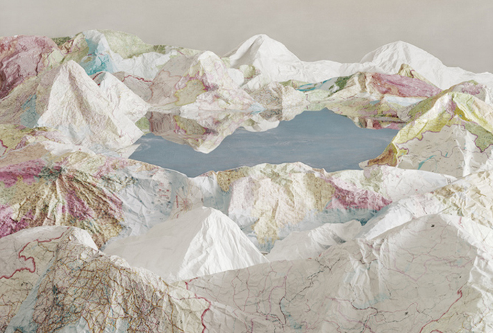 Three-Dimensional Landscapes Made Of Maps By Ji Zhou