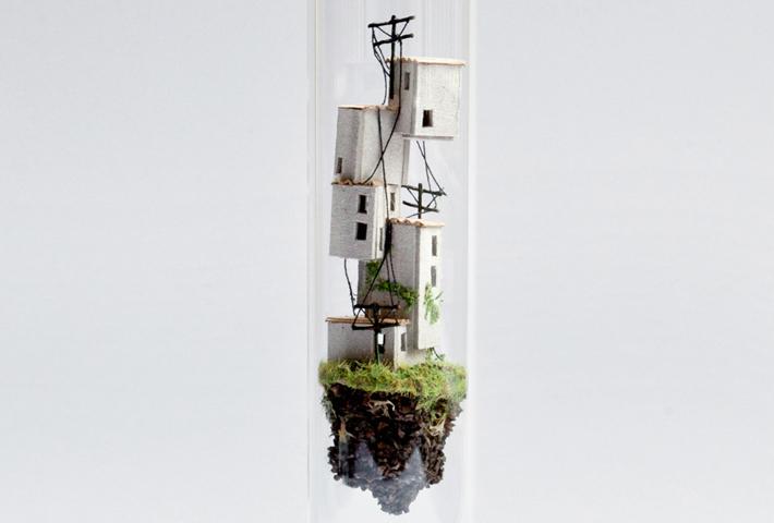 Vertical Miniature Worlds By Rosa De Jong