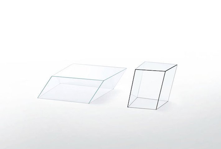 Tilted Glass Tables By Piero Lissoni