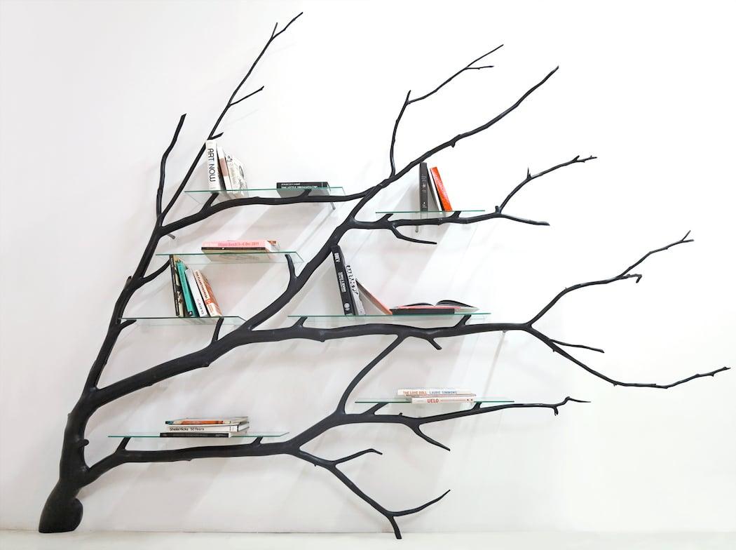 A tree shaped shelf by sebastian errazuriz for Tree of life bookshelf