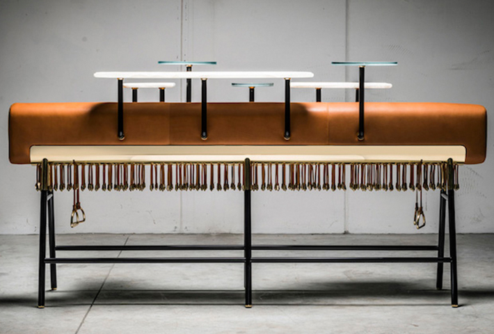 A Bar For Two On A Gymnastic Beam By david/nicolas
