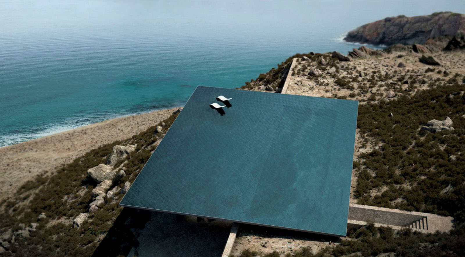 A House With A Rooftop Infinity Pool
