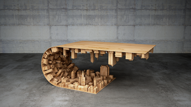 a curved coffee tablestelios mousarris | ignant Curved Coffee Table