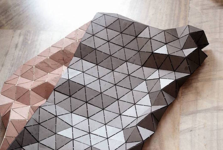 Dominik Raskin Crafted Flexible Stone Rugs Inspired By 3D Modelling