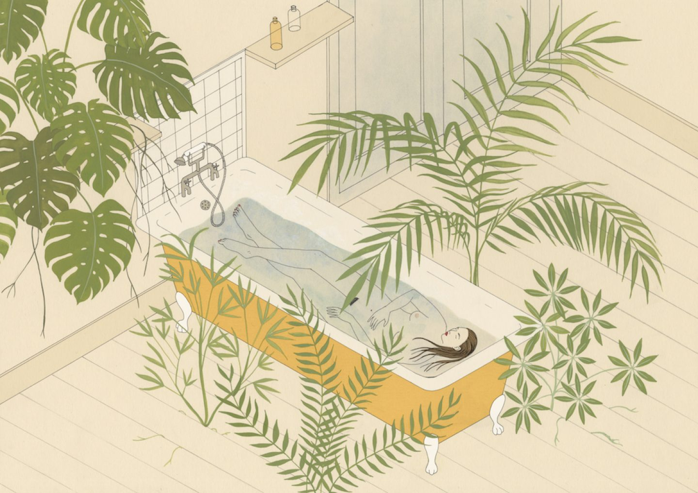 3. What's your happy place__Tropical Bath