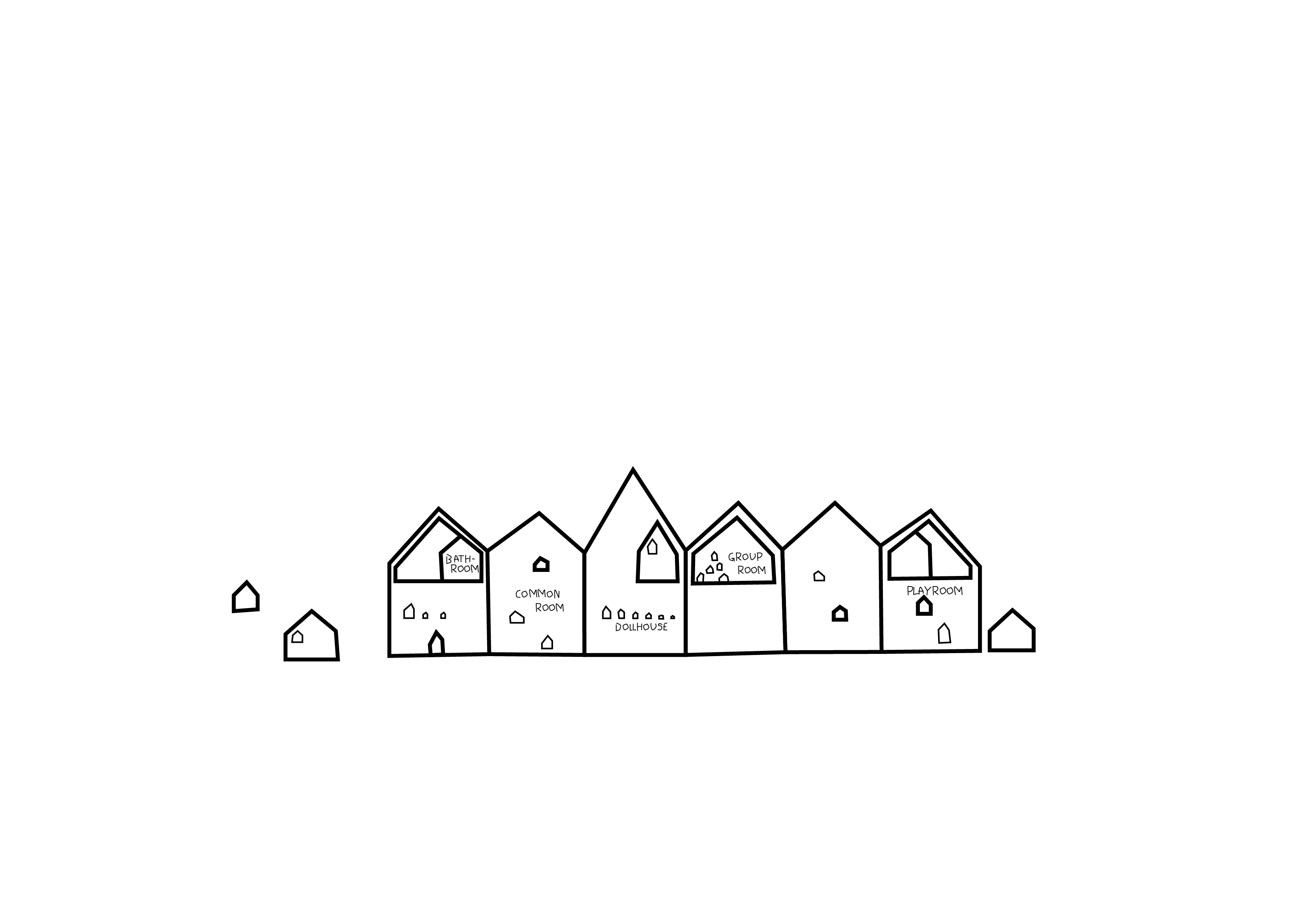 Frederiksvej Kindergarten_diagram 05_a house within a house - from large buildings to small doll houses_credit COBE