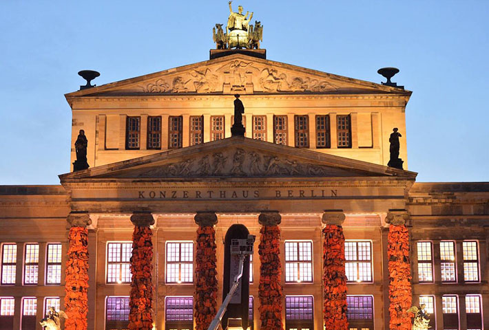 Ai Weiwei Covered Berlin's Konzerthaus In 14,000 Refugee Life Jackets