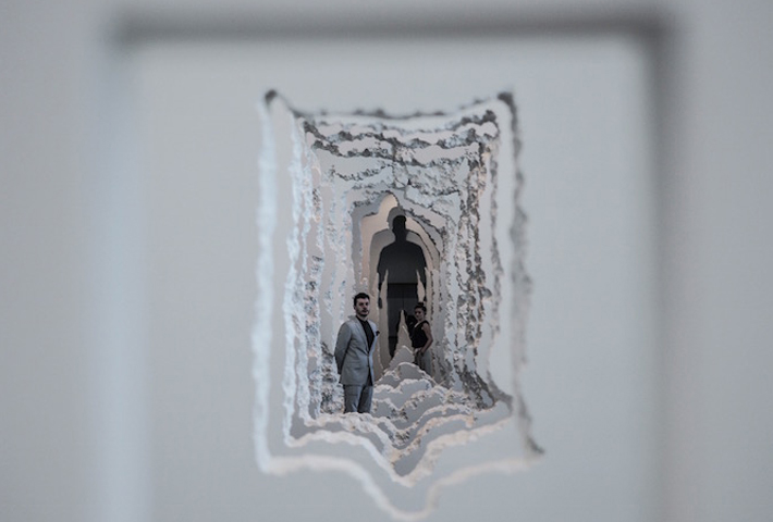 An Excavated Wall Installation By Daniel Arsham