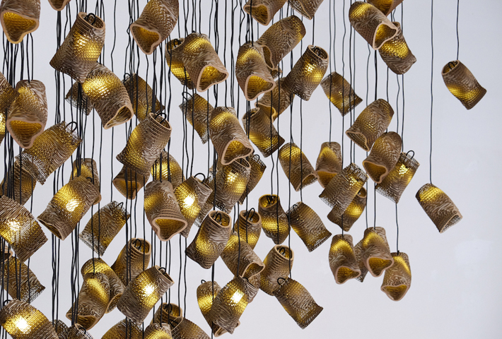 A Light Installation Inspired By Murmurations