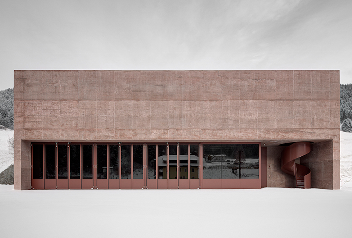 A Rose-Tinted Fire Station By Pedevilla Architects