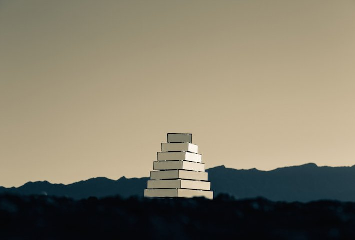 A Mirrored Tower Of Babel Installation