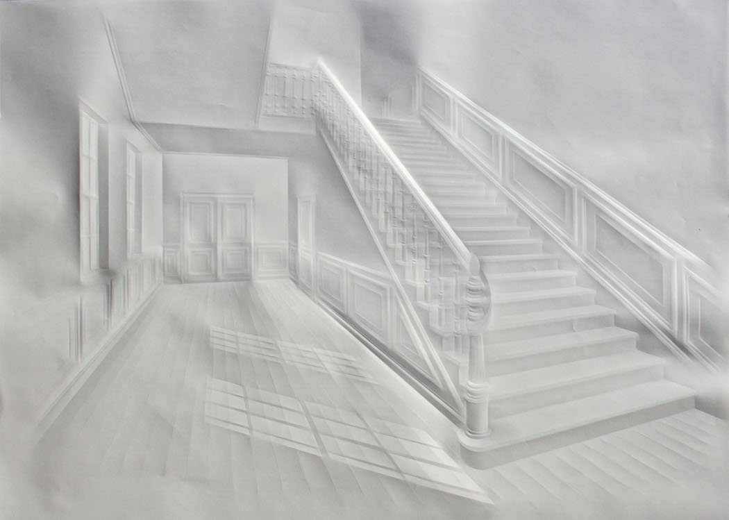 simonschubert(Light in hall with stair),70x100cm,2014