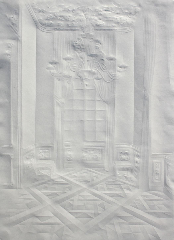 simonschubert(corridor with chandelier),2013,70x50cm