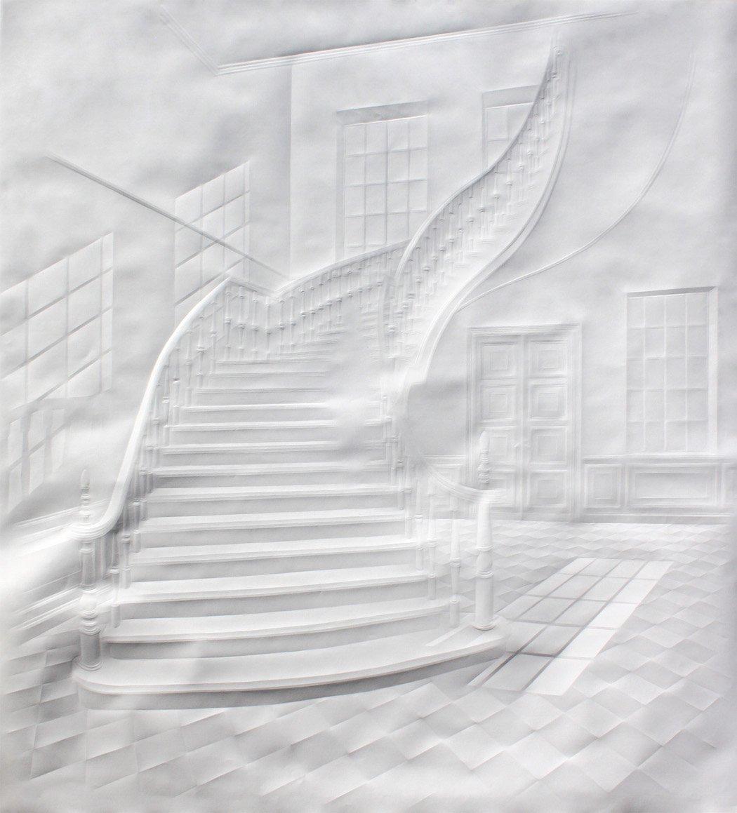 simonschubert(large stairway), 2015, 120cm x 110cm
