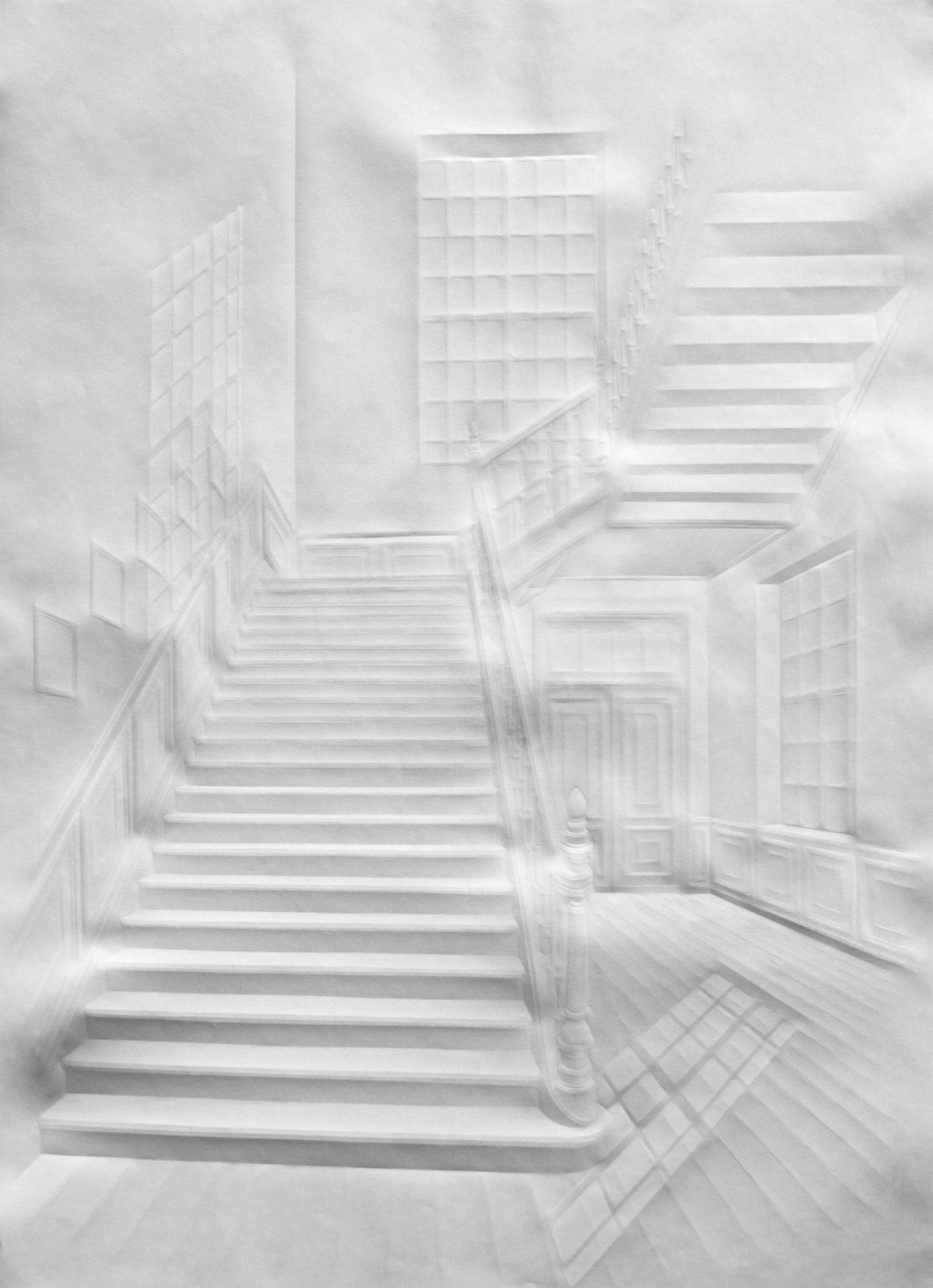 simonschubertohne Titel (Licht im Treppenhaus), 2014, 100cm x 70cm