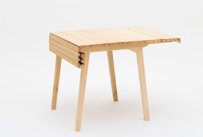 A Rollable Wooden Table Top By Nathalie Dackelid