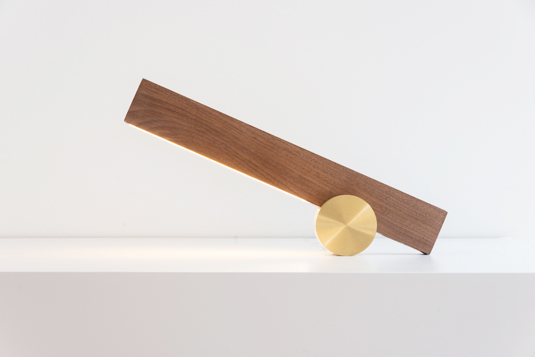 Walnut Wood Meets Bronze In A Unique Lamp