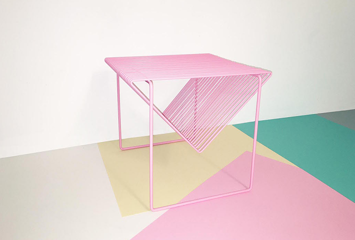 Vibrant Steel Wire Framed Tables By Bordbord