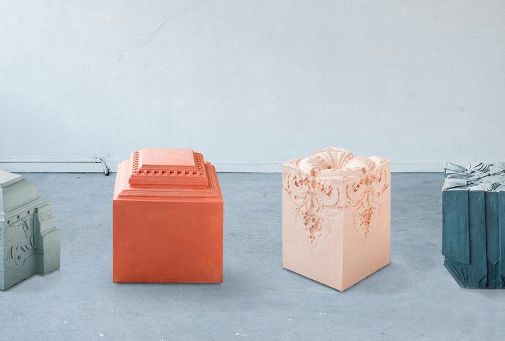 Stools Inspired By Architectural Ornaments