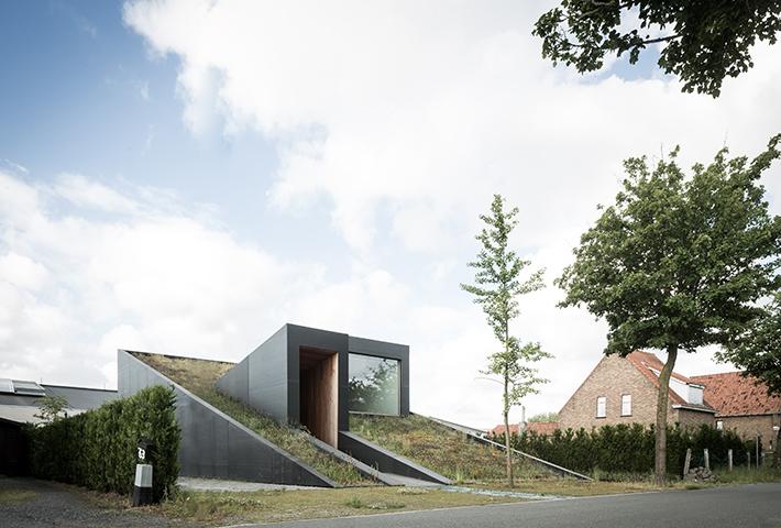 A Semi-Subterranean Family Home In Belgium
