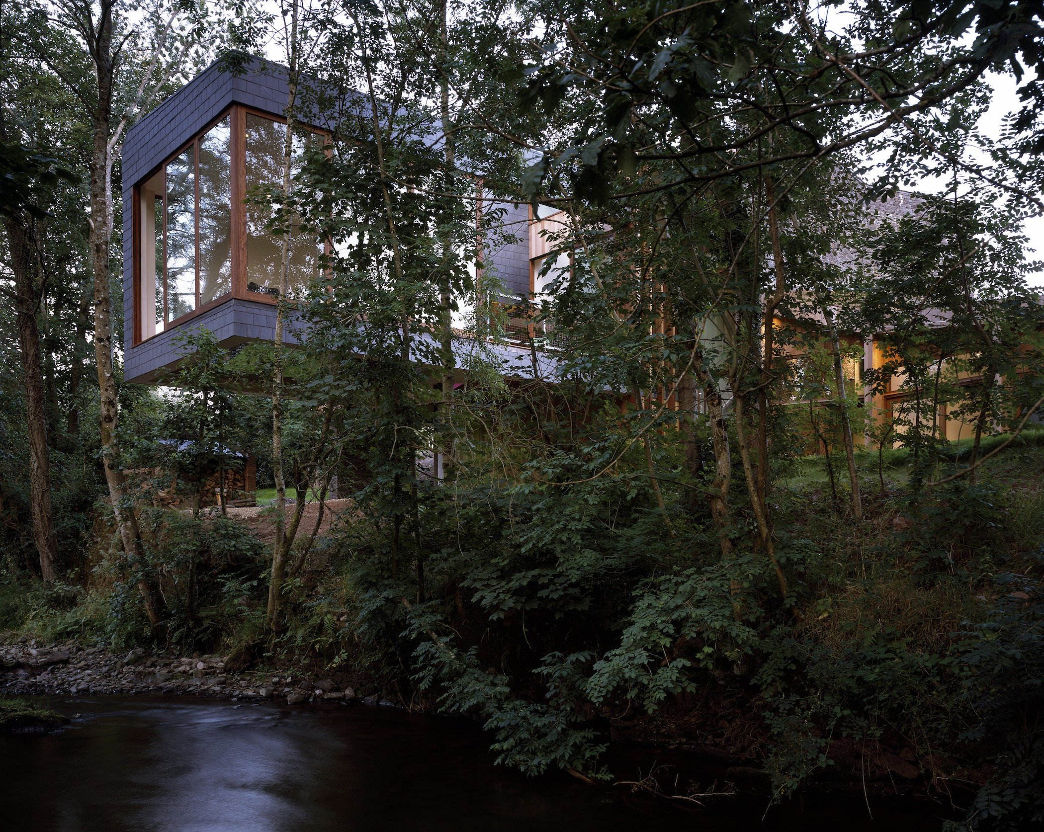 A Floating Holiday Home Atop Welsh Hills