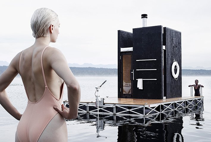 A Motor-Powered Floating Sauna