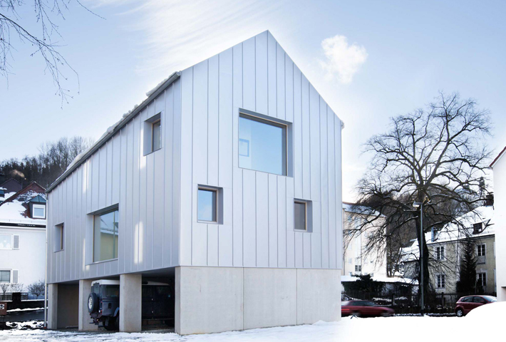 A Townhouse Combining Concrete With Solid Wood