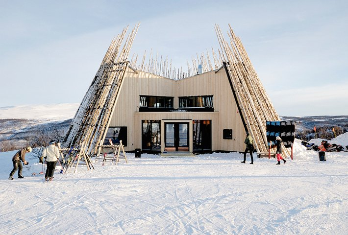 A Birch-Clad Restaurant Inspired By The Sami Hut