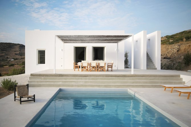 Modern Greek Architecture a modern summer house on a greek island | ignant