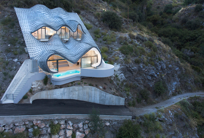 A Gaudí-Inspired Home On A Cliff Near The Mediterranean Sea